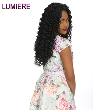 Lumiere Hair Malaysian Deep Wave Human Hair Bundles Natural Color Free Shipping 100% Human Hair Non Remy Hair 1 Bundle Weave
