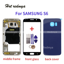 Get more info on the S6 Battery Cover For Samsung Galaxy S6 G920 G920F Back Cover + Middle Frame Full Housing Case With Touch Glass Lens