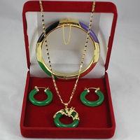 Wholesale price 16new ^^^^^^Wonderful Multicolor stone Circle Dragon Pendants Necklace Earring Bracelet
