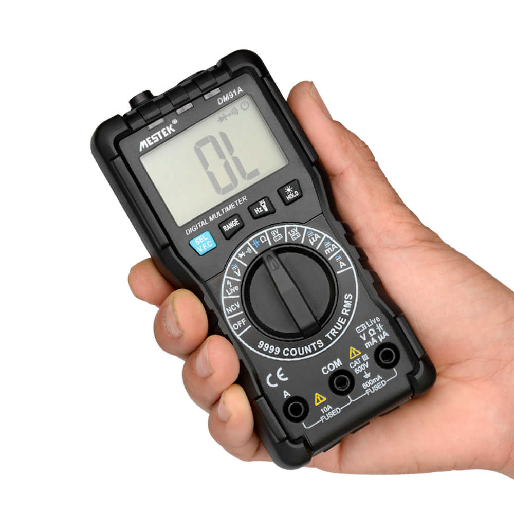 Mestek 핸드 헬드 lcd 디지털 멀티 미터 9999 카운트 멀티 미터 자동 범위 설정 멀티 테스터 ac/dc 볼트 앰프 옴 다이오드 연속성 테스터