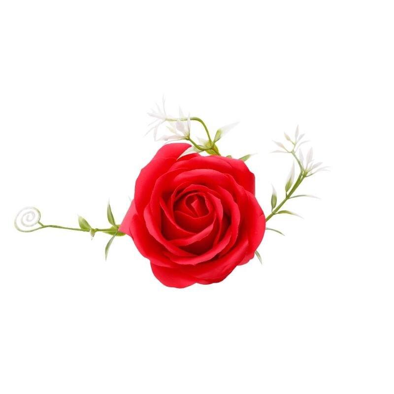 Креативная роза цветок мыло для путешествий мыльные хлопья лепесток тела Парфюмированное Мыло День Святого Валентина украшение для свадьбы подарок Лучшие - Цвет: Красный