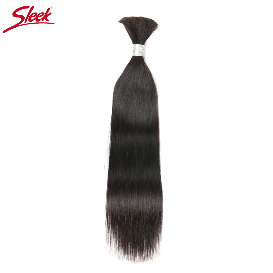 Sleek Hair Natural Color Human Bulk Hair For Braiding No Weft Remy Brazilian Straight Human Hair Crochet Braids Free Shipping