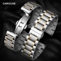 Ремешок из нержавеющей стали, 13 мм, 14 мм, 16 мм, 18 мм, 20 мм, 22 мм, 24 мм, металлический ремешок для часов, браслет, ремешок для часов, черный, серебри...