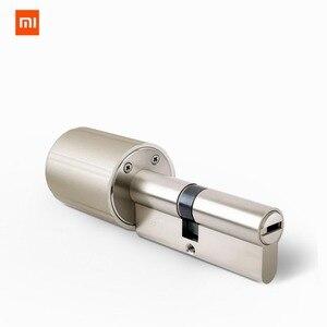 Image 1 - Умный Замок xiaomi mijia для домашней безопасности, практичный Противоугонный дверной замок с ключом, работает с приложением mi Home