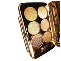 JEYL mulheres diamante colorido brilhante maquiagem sombra de olho super compo o jogo flash Glitter eyeshadow palette com escova