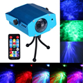 Remote 3W RGB LED Water Wave Ripple Effect Stage Light lighting Laser Projector with Mini Tripod for Party Show US/EU/UK/AU Plug