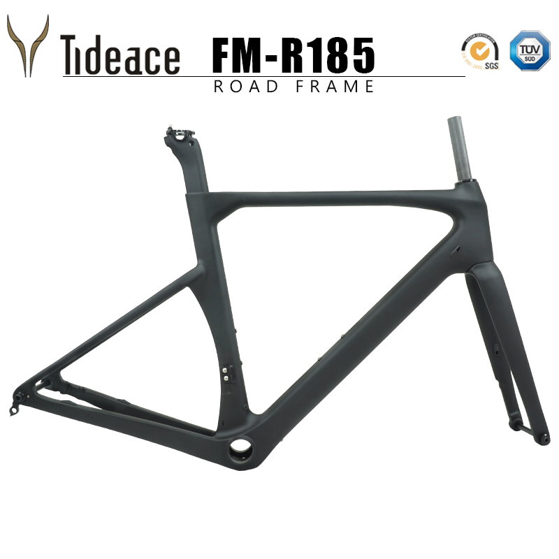 New Tideace Disc Brake Carbon Road Frame 142*12mm UD Carbon Fiber Road Bike Frame Di2 Carbon Bicycle Frameset Disc Brake
