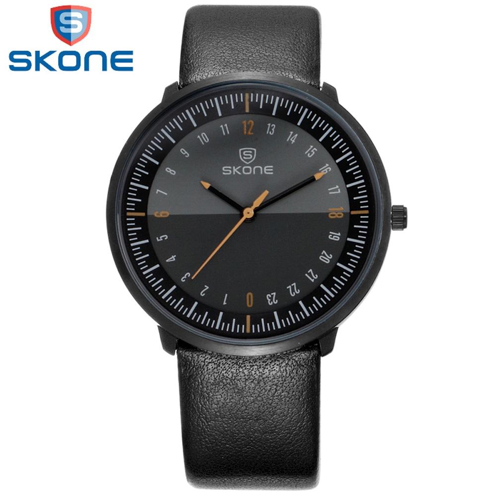Prix pour Skone Montres Hommes De Luxe Top Marque Nouveaux hommes de Mode Grand Designer Dial Quartz Montre Homme Montre-Bracelet relogio masculino reloj