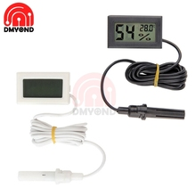 Mini Probe Digital LCD Thermometer Hygrometer Humidity Temperature Meter Indoor Digital LCD Display White Black Professional