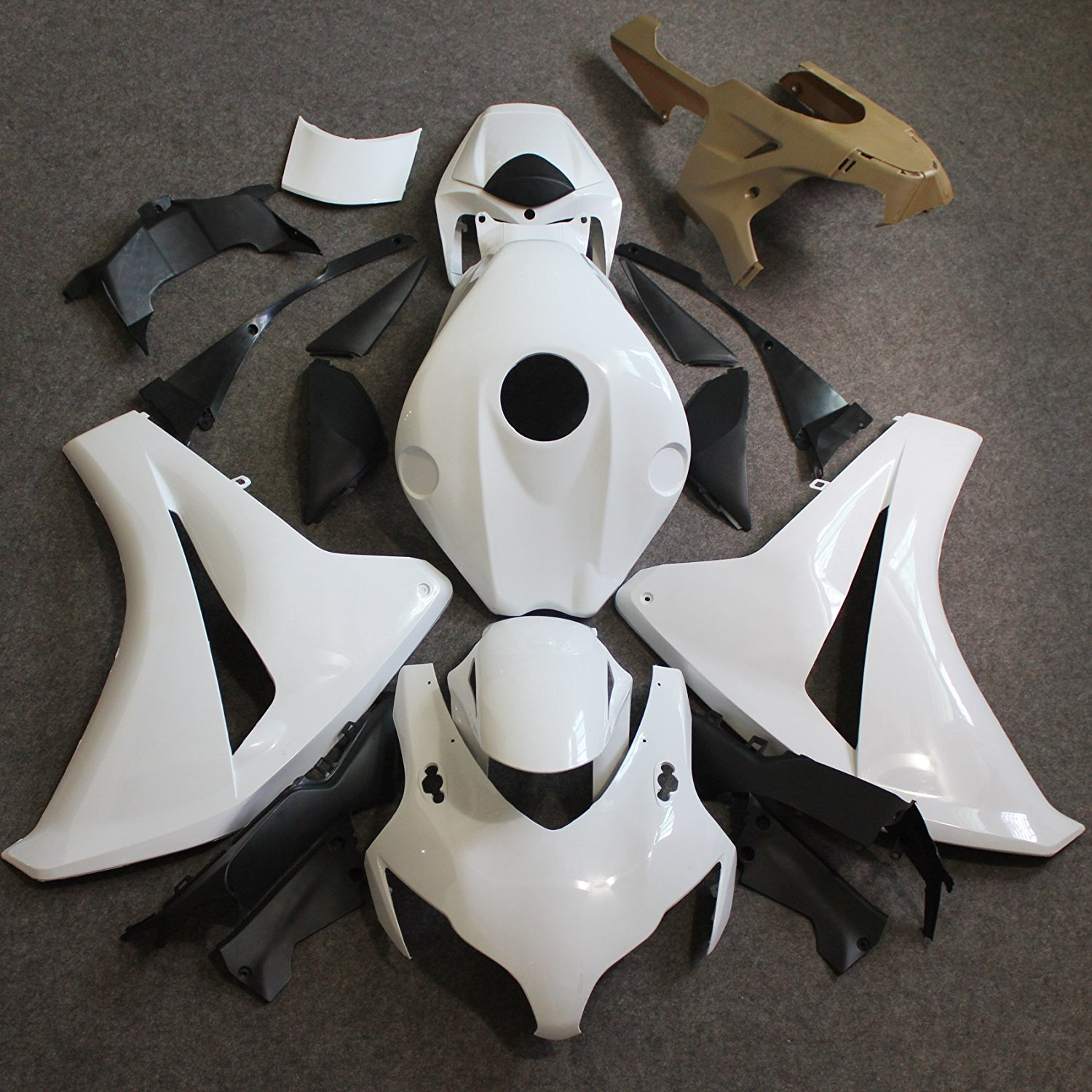CBR 1000RR 08 09 Motorcycle Unpainted Injection Full Fairing for Honda CBR 1000 RR CBR1000RR 2008 2009 Fairings Kit Bodywork arashi motorcycle radiator grille protective cover grill guard protector for 2008 2009 2010 2011 honda cbr1000rr cbr 1000 rr