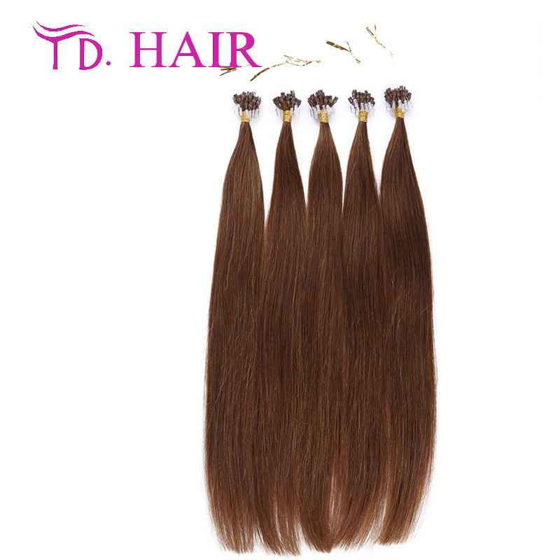 #6 Micro loop ring hair extension cheap brazilian human hair double drawn micro loop hair extension free shipping