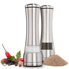 1 Piece Stainless Steel Manual Salt And Pepper Mill Grinder For Cooking Kitchen Tools
