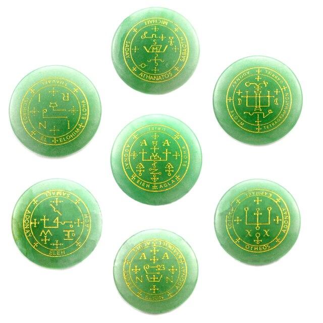 Фото набор из 7 натуральных камней амулет маятник рейки лечебные цена
