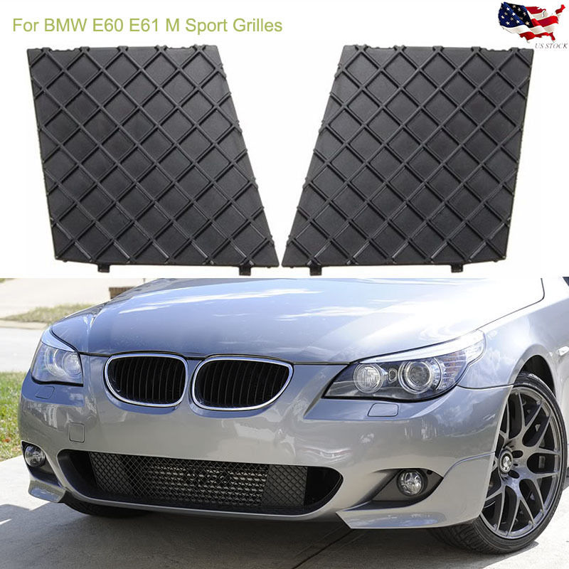 Free shipment for BMW OEM 5 E60 E61 M SPORT FRONT BUMPER LOWER MESH PAIR GRILL TRIM Bump Lower Mesh Grill Trim Cover pearl beaded frill trim mesh blouse