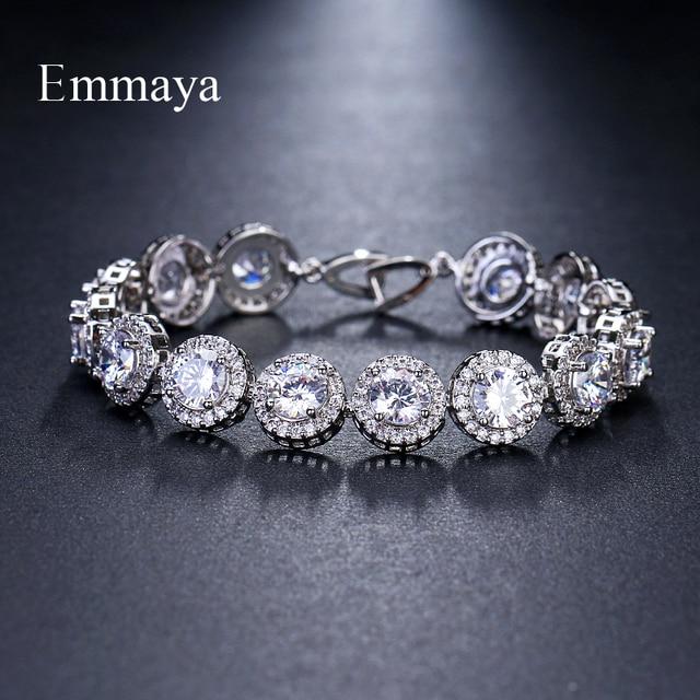 Женские классические браслеты с цирконием Emmaya