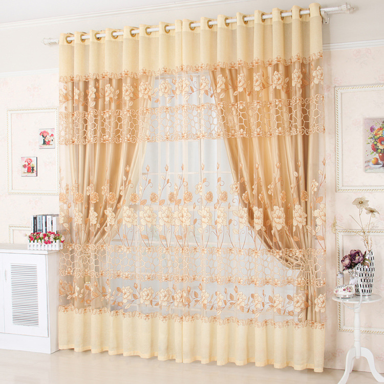 Polyester Window Curtains Sheer For Living Room Modern