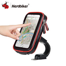 HEROBIKER, держатель для мобильного телефона, мотоциклетный, велосипедный кронштейн, подставка, держатель для телефона, водонепроницаемый чехол, сумка для Iphone 6/7, samsung