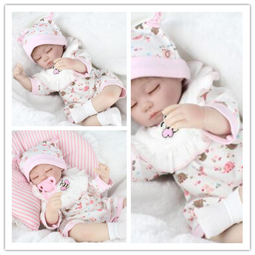 цена на 18 inch dolls reborn silicone cloth body children fashion doll bebe alive reborn bonecas Lifelike Baby Silicone Vinyl Boy Girl