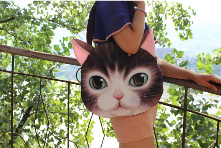 Cat meow star people handbag shoulder bag large bag handbag cute cartoon creative personality gifts Crossbody Bag in Top Handle Bags from Luggage Bags