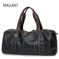MALLRAT Men Leather Travel Bag Large Capacity Duffle Handbag Famous Brand Quality Luggage Messenger sac a main bolsa