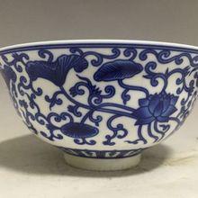 Изысканная маленькая Китайская классическая синяя и белая фарфоровая чаша с Qianlong Mark