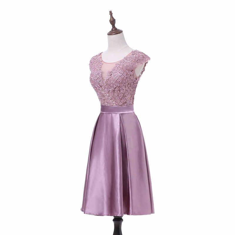 Nuovo arrivo di estate sottile leggero e sottile Da Sera Dresse vestido de noiva Partito del merletto vestido noiva sereia prom breve robe de mariee