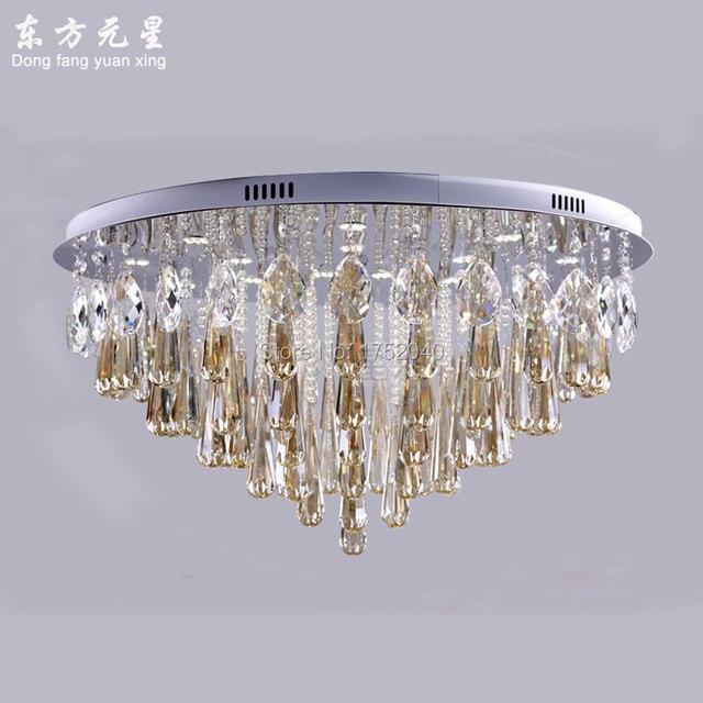 Kristallen kroonluchter led verlichting kristal licht ronde lamp ...
