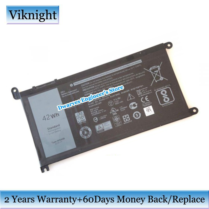 42Wh WDX0R Battery For Dell Inspiron 15-7560 15 5538 15 5567 15 5568 15 7000 P61F Ins14-7460-D1525G WDXOR T2JX4 3CRH3 11.4V kingsener wdx0r laptop battery for dell inspiron 15 5568 5567 7560 13 7368 5378 5368 14 7460 17 5767 5765 for vostro 14 5468