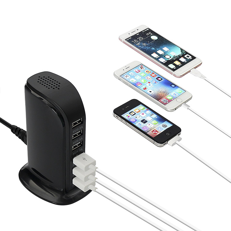 6 Port USB Wall Charger Desktop Charging Station Quick Charge 2 0 Compatible with Compatible for iPhone iPad Samsung Galaxy Tabl in Mobile Phone Chargers from Cellphones Telecommunications