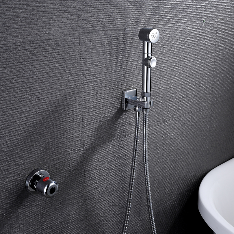 Термостатический ручной Туалет биде кран гигиены Личная Чистка Shattaf опрыскиватель душ комплект роскошный ванная душевая головка