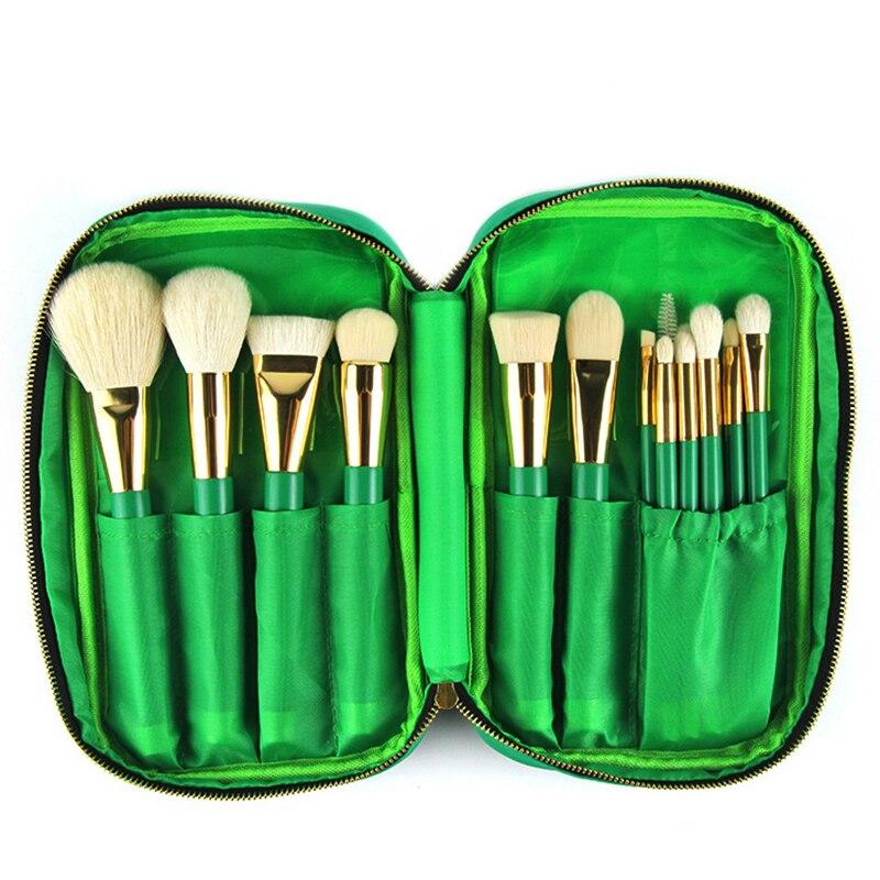 Professional Melbourne 15 makeup brush dark green high-grade wool makeup brush professional beauty tools ооо шеф маркет melbourne