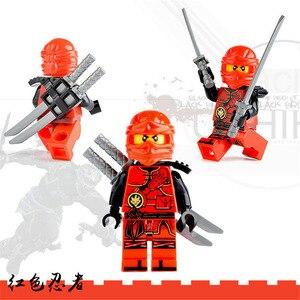 Image 5 - 8Pcs NINJA WU Lloyd Zane Kai Cole Jay NYA HERO Building Block ภาพยนตร์การกระทำของเล่นอิฐ NinjaINGly รูปชุด