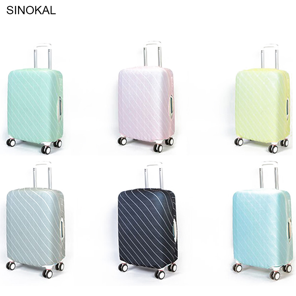 Couverture protectrice de valise de bagage de couleur élastique d'épaisseur de voyage, s'appliquent aux cas 18-30inch, accessoires de voyage 2018