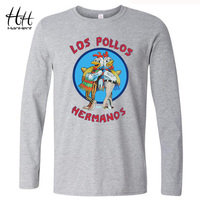 Los Pollos Hermanos Breaking Bad T Shirts Men Chicken Brothers Male T Shirts Long Sleeve O