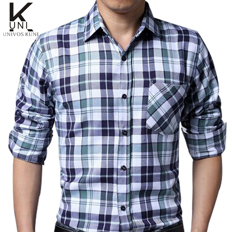 2016 brand shirts mens camisa xadrez check shirts design