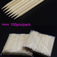 100PCs Orange Wood Stick Sticks 11.5cm Pusher Remover Nails Polish Manicure Nail Care Tools,TRP09