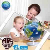 2017 New Arrival BD01 3D AR Globe Learning Education Toys Augmented Reality Toys Geographical Knowledge Toy