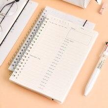 Livro organizador de planejador diário, programador diário de tempo para aprendizagem do aluno