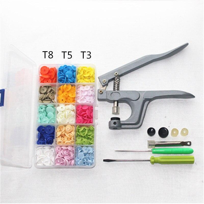 T3/T5/T8 KAM plastic snap button pulsante del bambino dei bambini all'ingrosso tuta combinazione + utensili a mano