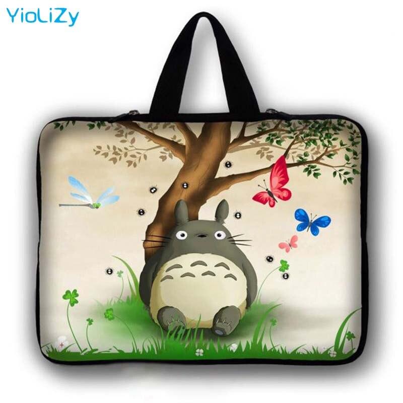 Totoro impressão 7 10 12 13 14 15 17 Laptop Saco tablet Caso 7.9 9.7 11.6 13.3 14.4 15.4 15.6 17.3 manga Notebook PC tampa LB-23807