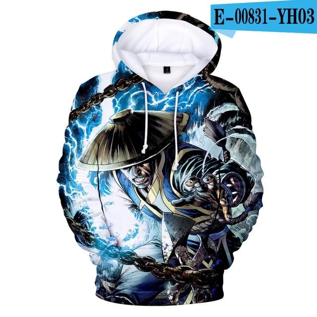 Mortal Kombat 11 Hoodies Kawaii 3D Print Sweatshirt Clothes Hot Sale Casual Newest Plus Size Hoodies fashion design