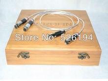 Livraison gratuite une paire Acrolink OCC pur argent plaqué Équilibré Interconnexion XLR Câble Audio
