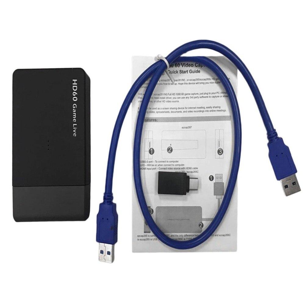 1080 p HD Jeu Vidéo Capture Lecteur Livraison USB 3.0 HDMI à HDMI Carte de Capture Vidéo Boîte Pour XBOX Un /360 pour PS3 pour PS4