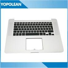 """SP Испания Испанский Топ корпус клавиатуры для MacBook Pro 1"""" A1398 retina ME294 ME293 поздно 2013 верхней крышке и клавиатура"""