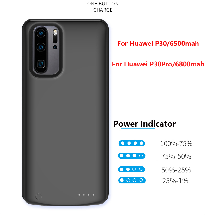 High Quality  Power Bank Case For Huawei P30 6500mahPack Backup Battery Charge For Huawei P30Pro 6800mah Battery Case CoveHigh Quality  Power Bank Case For Huawei P30 6500mahPack Backup Battery Charge For Huawei P30Pro 6800mah Battery Case Cove