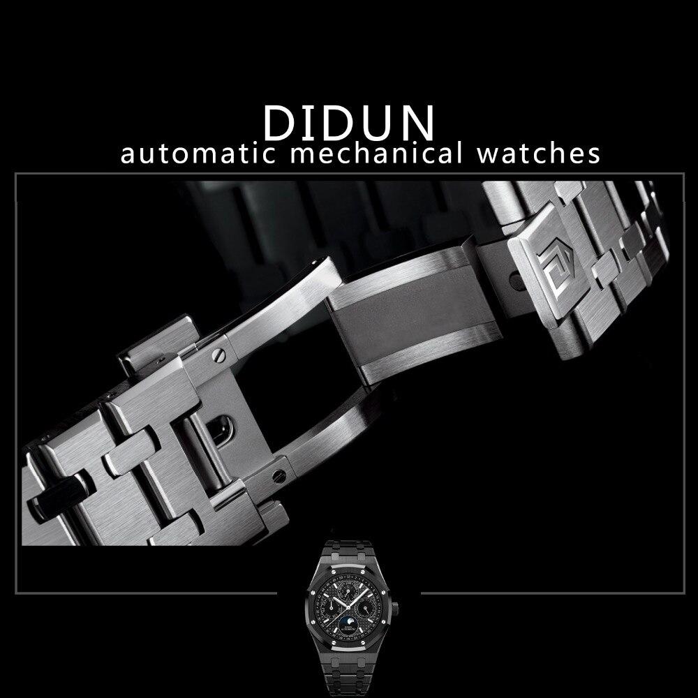 Мужские часы лучший бренд Роскошные часы автоматические механические часы Военная Униформа бизнес мужской наручные часы Moon Phase часы водо...