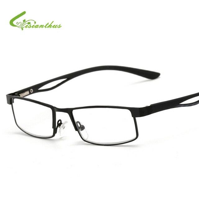 c7ce0011a6 Para hombre mujer gafas de presbicia marco de Metal gafas de lectura óptica  de fortalezas +
