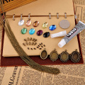 (1pack=6pcs nacklace)DIY Material package retro nacklace Sweater chain alloy accessories package