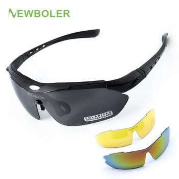 42c9615d4b Gafas de ciclismo NEWBOLER 2 montura 5 lentes polarizadas para hombres  mujeres MTB bicicleta gafas de senderismo gafas de deporte al aire libre