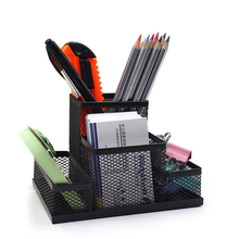 Multifunctional Combined Metal Net Penholder Pencil Holders Desk Storage Box Stand Stationary Office Supplies Study